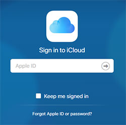 1. Sign in to iCloud.